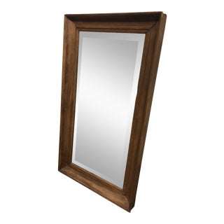 Antique Mid-Century Wood Framed Vanity Mirror For Sale