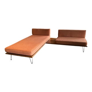 Mid-Century Modern Sofa Love Seat Twin Bed For Sale