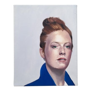 Oil Portrait of Woman with Red Hair For Sale
