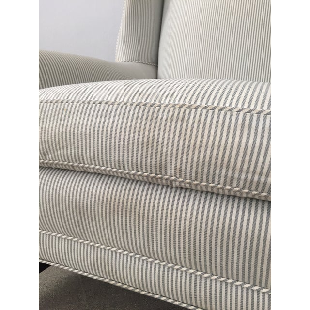 Custom Striped Wing Chair - Image 8 of 9