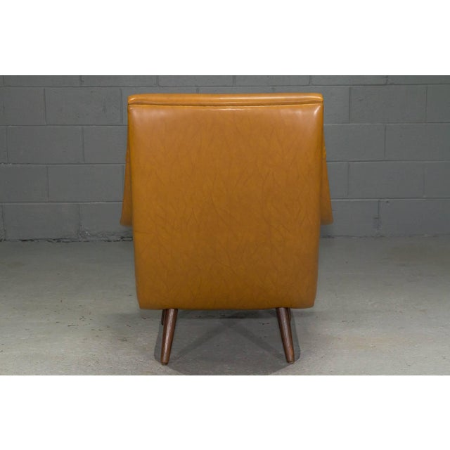 Mid-Century Modern High Back Danish Modern Lounge Chair For Sale - Image 3 of 10