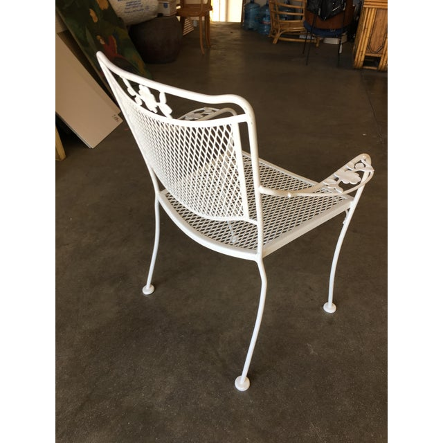 Woodard Company Mesh Outdoor/Patio Chair With Leaf Pattern Arms - Set of 4 For Sale In Los Angeles - Image 6 of 8