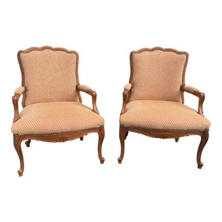 French Style Bergeres a Pair For Sale