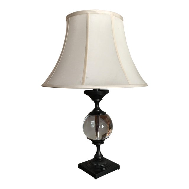 Crate & Barrel Glass Lamp - Image 1 of 5