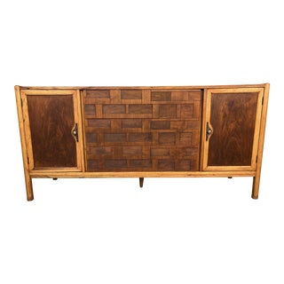 1960s Brutalist Style Walnut Credenza For Sale