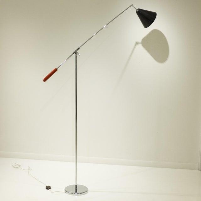Tall Single Arm Floor Lamp by Robert Sonneman - Image 3 of 7