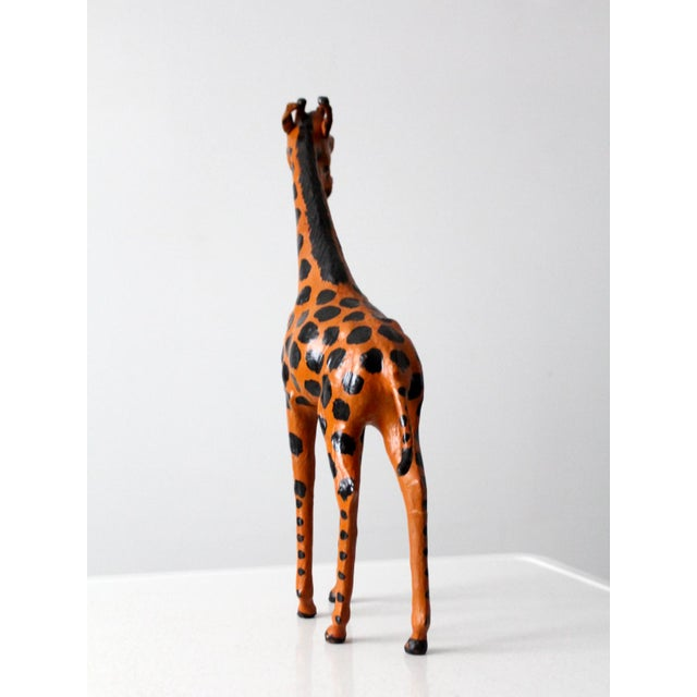 Leather Vintage Leather Giraffe For Sale - Image 7 of 10