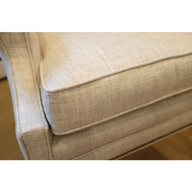 Hollywood Regency Century Wingback Chair For Sale - Image 9 of 11
