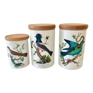 "Three Vintage Portmeirion ""Birds of Britain"" Canister Set For Sale"