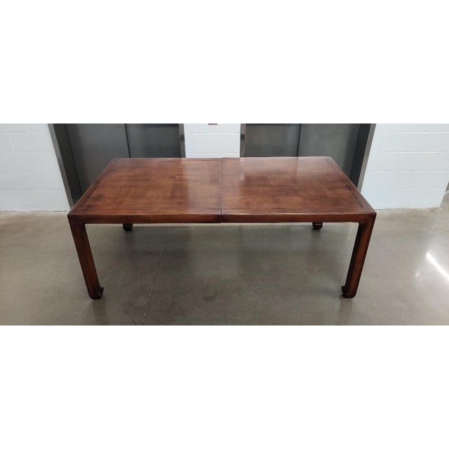 Henredon Asian MidcenturyStyle Dining Table For Sale - Image 12 of 12