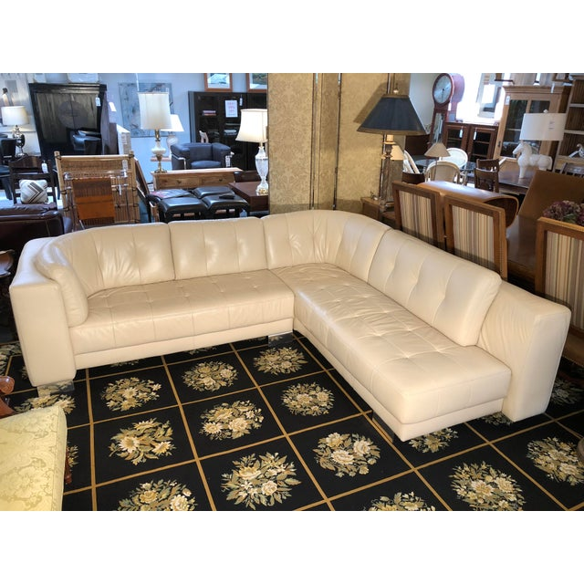 Design Plus Consignment Gallery is delighted to present a luscious ivory sectional by W. Schillig. With rounded edges and...