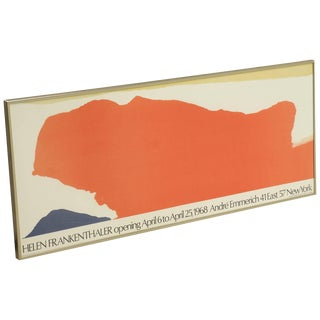 Helen Frankenthaler Lithographic Poster for Andre Emmerich Gallery, New York For Sale