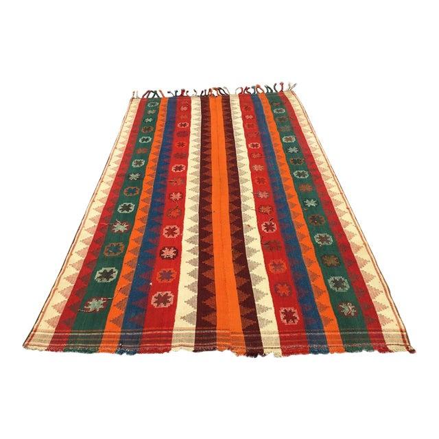 Colorful Vintage Kilim Rug For Sale