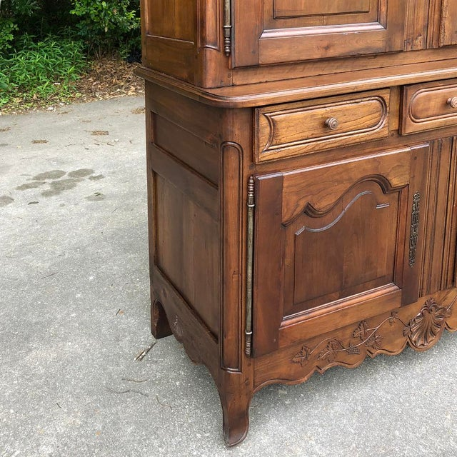19th Century Country French Fruitwood Buffet a Deux Corps For Sale - Image 9 of 13