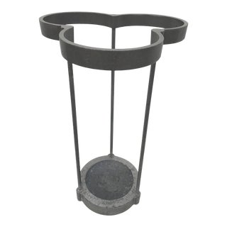 1990 Aluminum Umbrella Stand by Carl & Emanuela Magnusson for Efm Milano, Italy For Sale