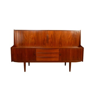 Ib Kofod-Larsen for Faarup Danish Modern Highboard Credenza For Sale