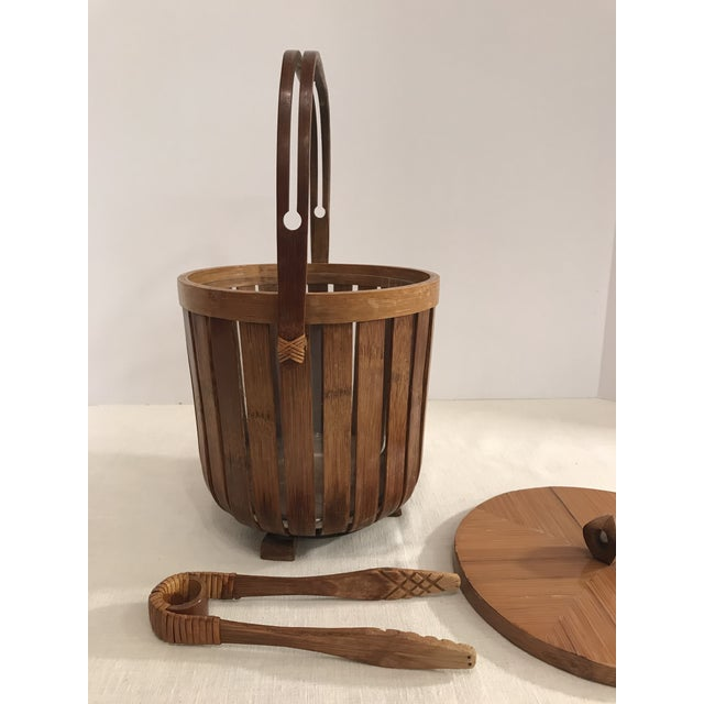 Vintage Bamboo Ice Bucket & Tongs - A Pair - Image 7 of 11
