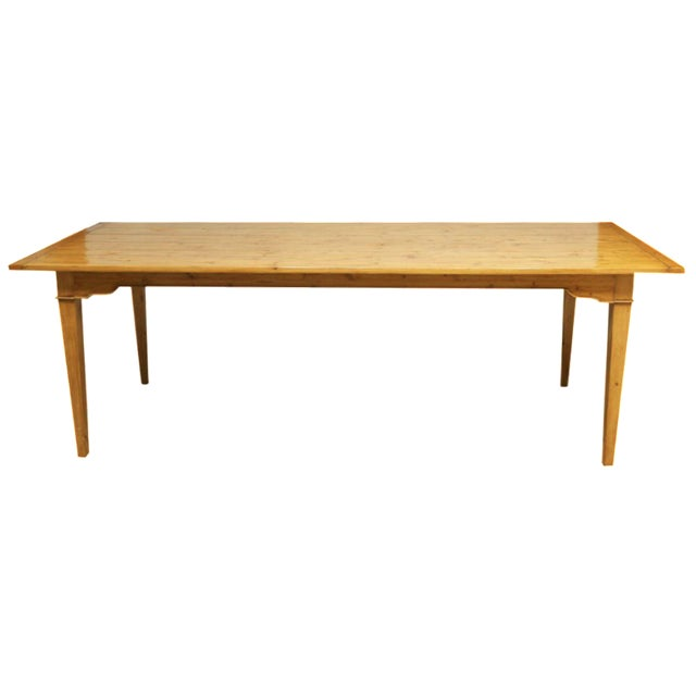 Italian Pine Farm Dining Table - Image 1 of 11