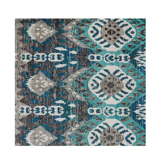 "1990s 1990s Ikat Area Rug - 8'0"" X 10'0"" For Sale - Image 5 of 6"