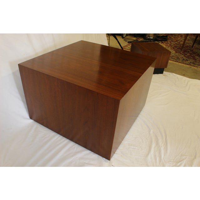 Milo Baughman Style Cube Coffee Table - Image 3 of 7
