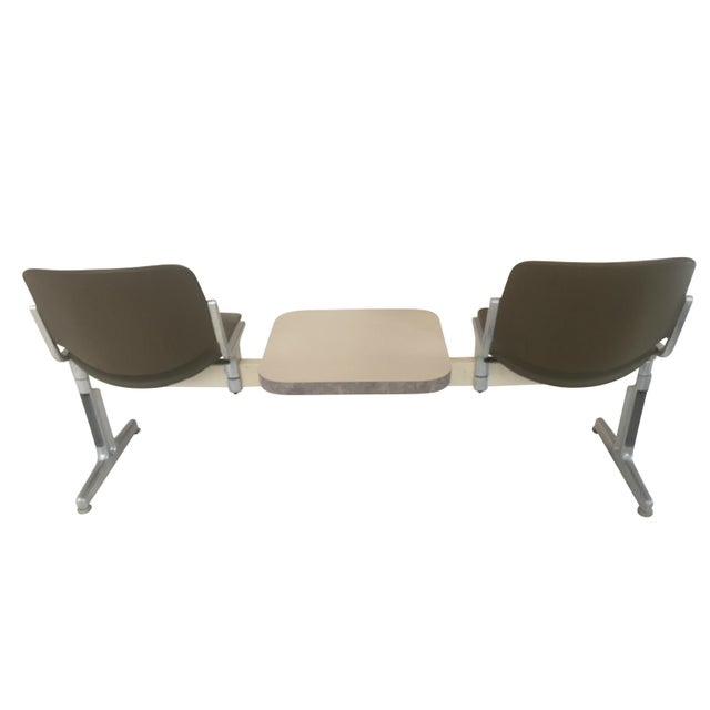 1970s Piretti for Castelli Anonima Airport Bench Seat in Olive Green For Sale In Chicago - Image 6 of 9