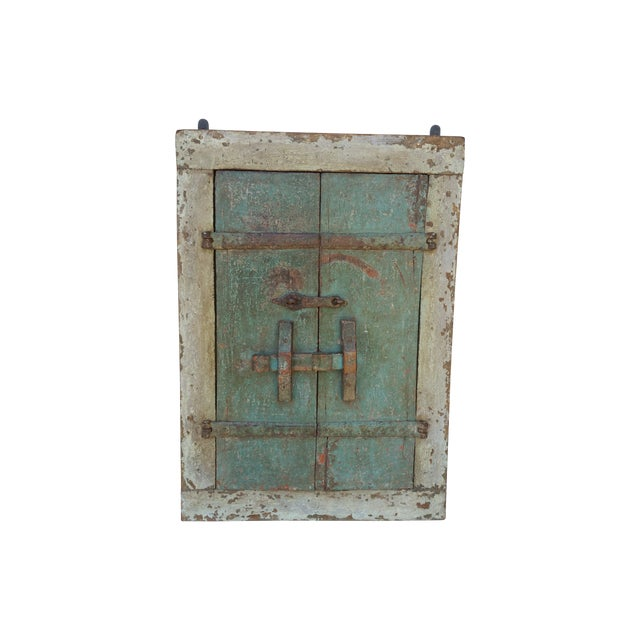 19th Century Wood Shutter with Mirror For Sale