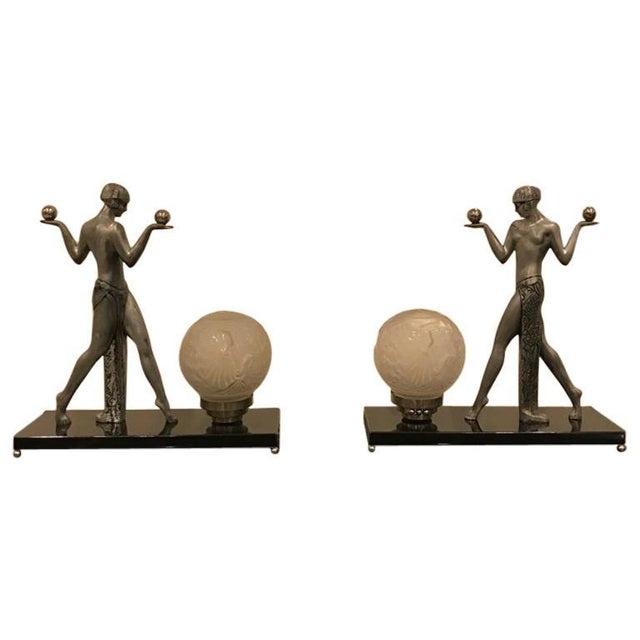 Early 20th Century French Art Deco Muller Frères Luneville Table Lamps - a Pair For Sale - Image 13 of 13