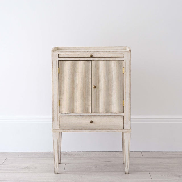 Pair of Lotta Gustavian Style Nightstands For Sale - Image 6 of 13