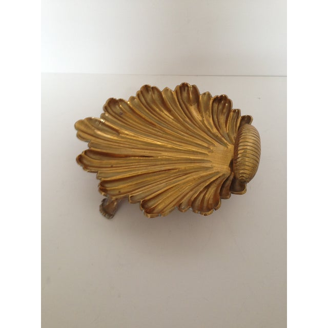 Vintage Brass Shell Dish - Image 3 of 4