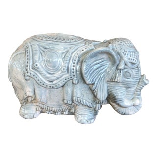 Vintage Elephant Glazed Figurine For Sale