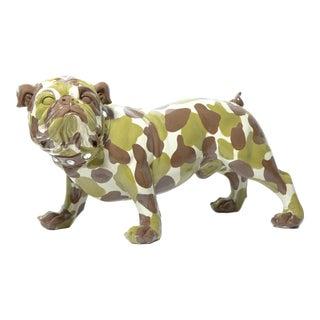 "Interior Illusions Plus Camouflage Bulldog - 30"" long For Sale"