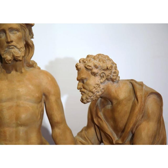 French Terracotta Sculpture of Christ Before Crucifixion For Sale - Image 10 of 10