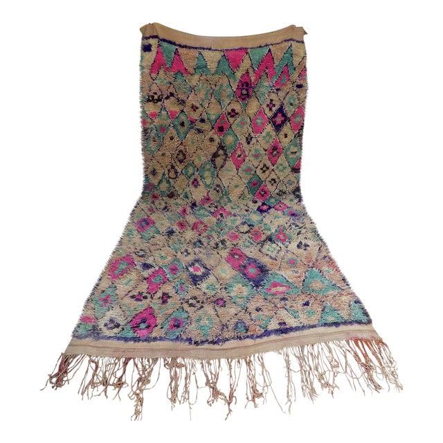Vintage Moroccan Teal & Purple Talsint Rug - 6′5″ × 11′11″ - Image 1 of 7