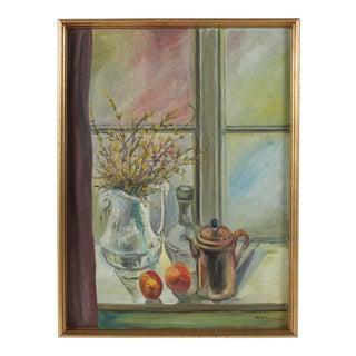 Still Life Oil Painting from Sweden For Sale
