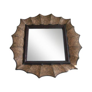 Vintage John Richard 'Web' Mosaic Designer Wall Mirror For Sale