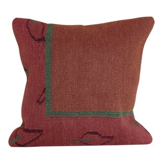 Turkish Kilim Rug Pillow For Sale