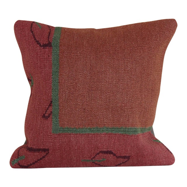 Turkish Kilim Rug Pillow For Sale