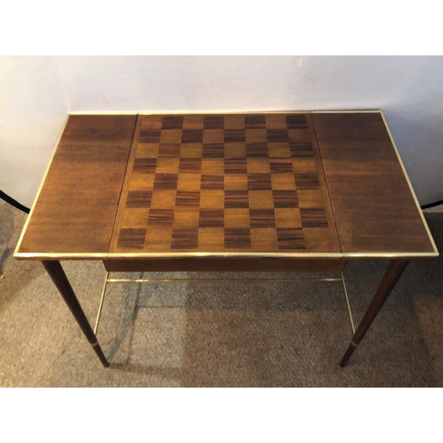 "French MCM Game / Card Table ""The Paul McCobb Connoisseur Collection"" Fully Refinished For Sale - Image 3 of 13"