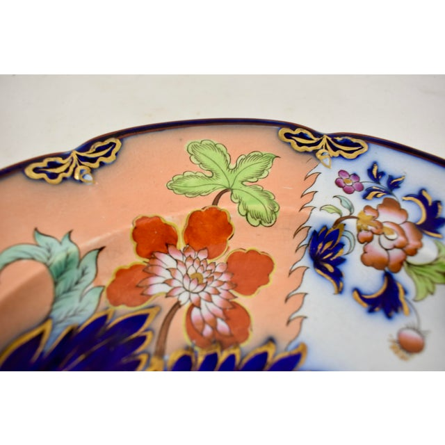 Ceramic Mid 19th C. John Ridgway English Chinoiserie Style Imari Floral Plates, S/8 For Sale - Image 7 of 13