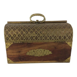 Mid Century Handmade Indian Bridal Box For Sale