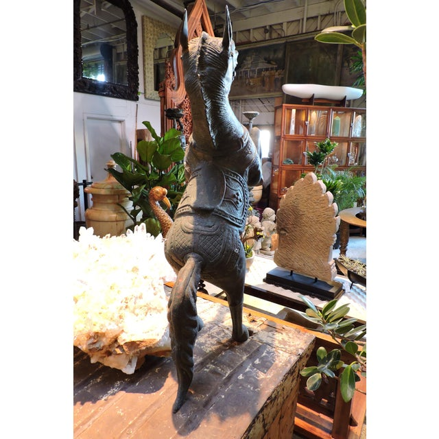 Late 20th Century Reared Up Bronze Hanging Horse For Sale - Image 5 of 6