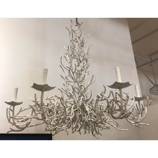 Large White Faux Coral Iron Chandelier Preview
