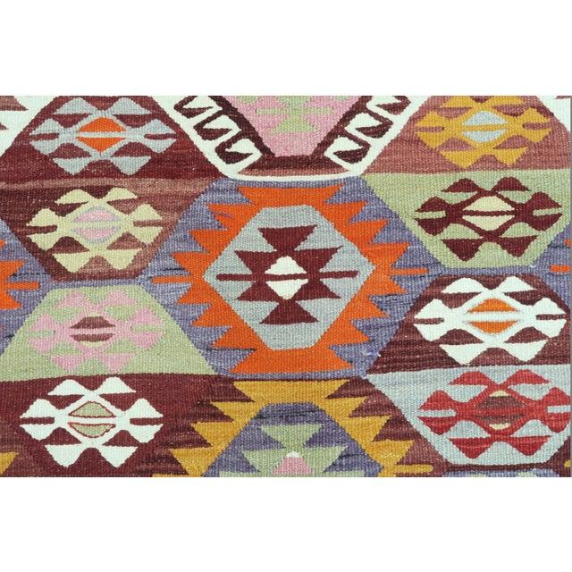Orange 1960s Vintage Tavas Nomad's Flat Weave Rug For Sale - Image 8 of 12
