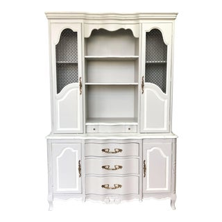 French Provincial China Cabinet For Sale