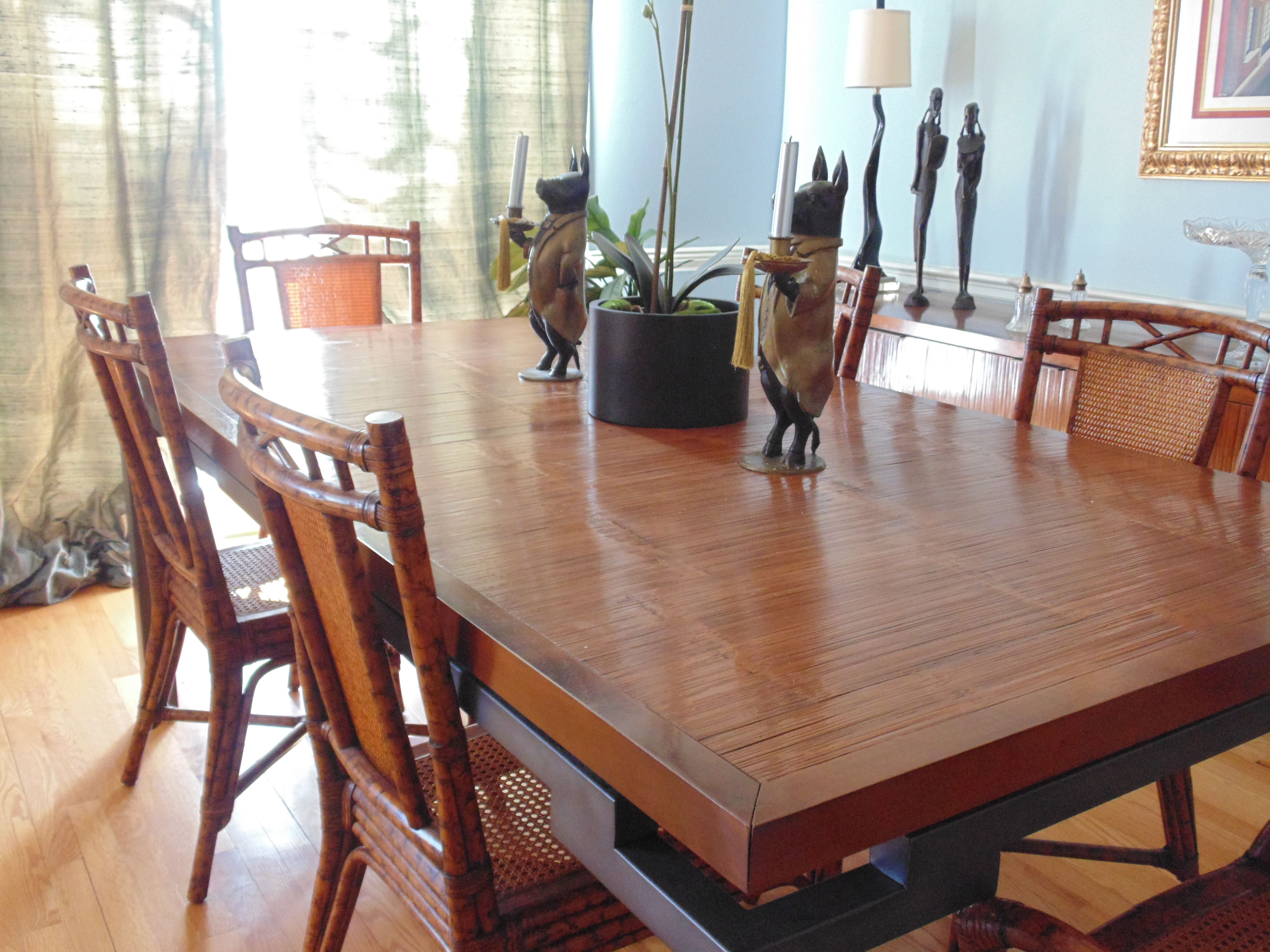 Roche Bobois Bamboo Dining Room Table   Image 10 Of 10