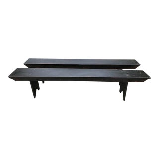 Marked Down! Hand Crafted Amish Picnic Benches - a Pair