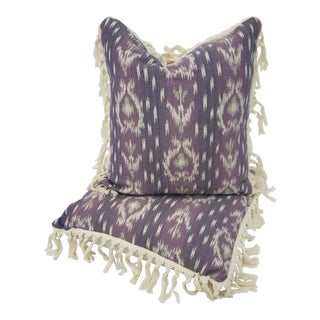 Boho Chic Pillows With Fringe - a Pair For Sale