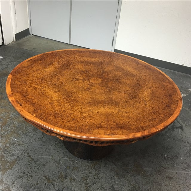 New Martin Pierce Hedgerow Circular Dining Table For Sale - Image 5 of 11