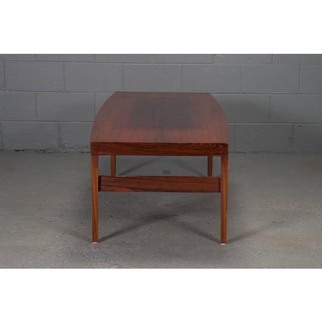 Mid-Century Danish Modern Rosewood Coffee Table For Sale - Image 4 of 10