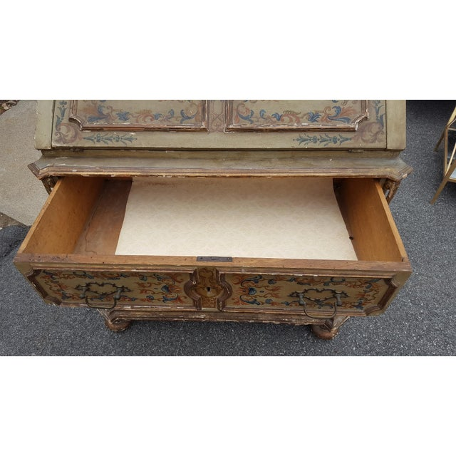 French Distressed Painted Secretary Desk - Image 7 of 11